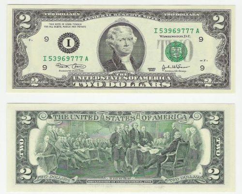 2 Dollar Bill, Two Dollar Bill
