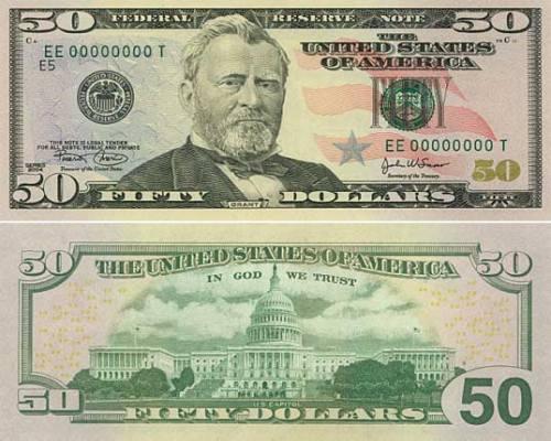 50 Dollar Bill, Fifty Dollar Bill