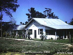 Casa menonita en 1962