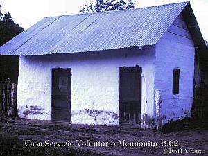 Casa servicio voluntario Menonita en 1962