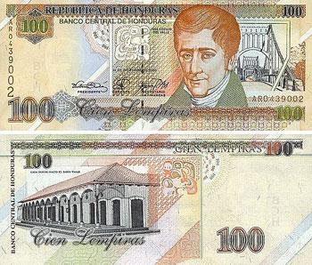 Cien Lempiras, 100 Lempiras