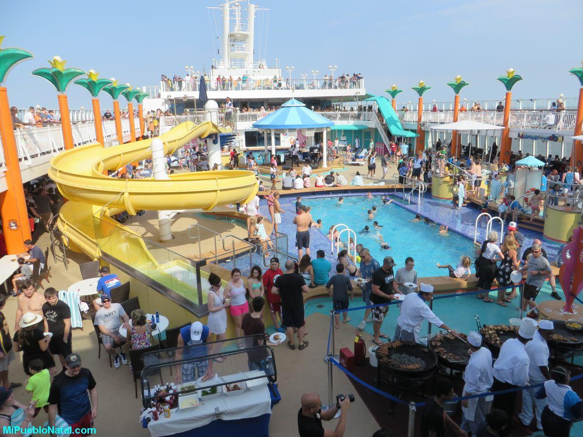 De fiesta en un crucero