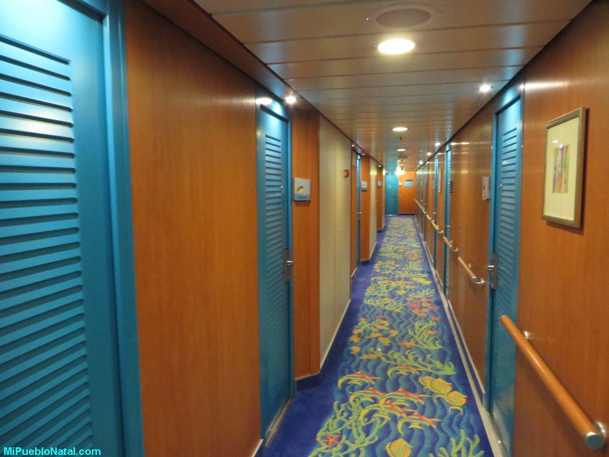 Cabinas en un crucero