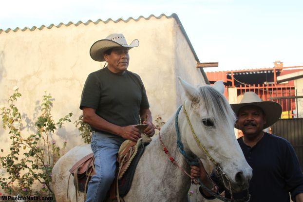 Disfrutando un raite en caballo