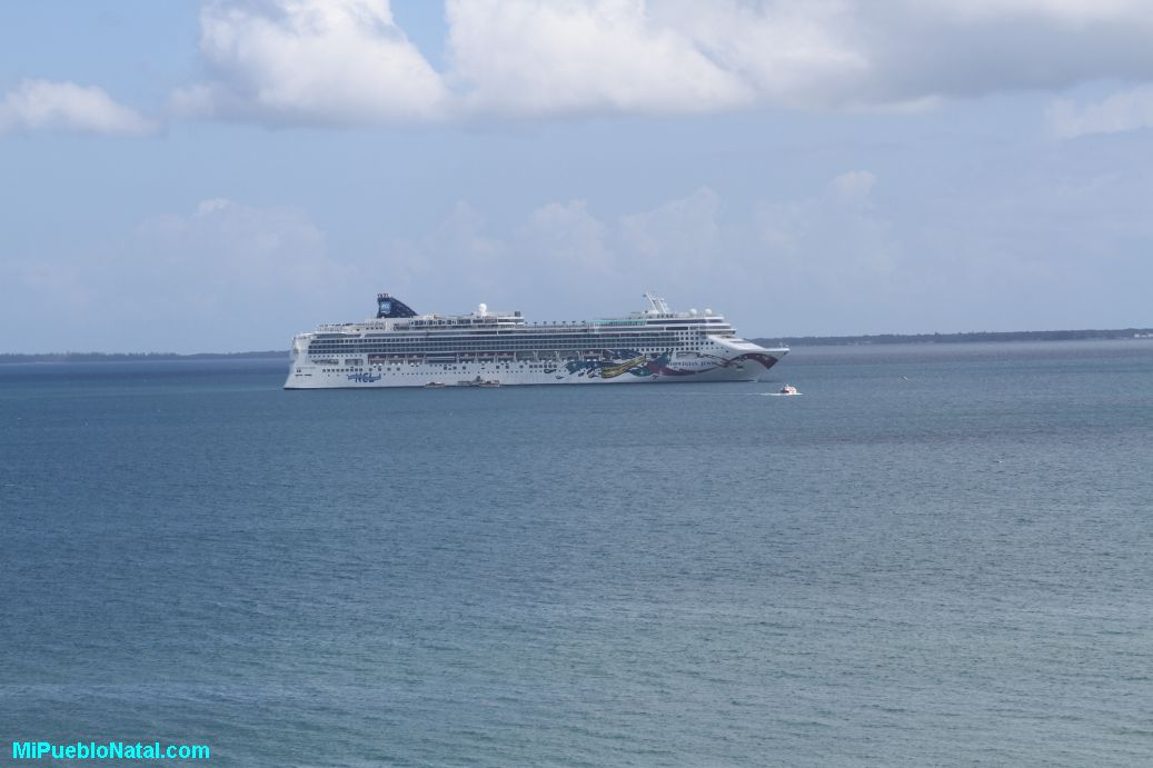Cruise ship anchored in Trujillo, Colon, Honduras