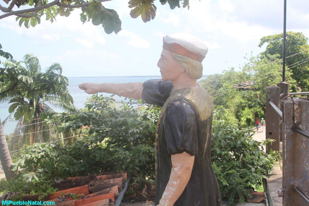 Estatue of Christopher Columbus in Trujillo, Honduras