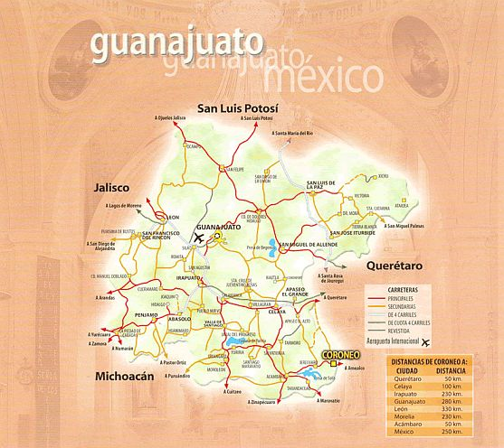 Guanajuato Map