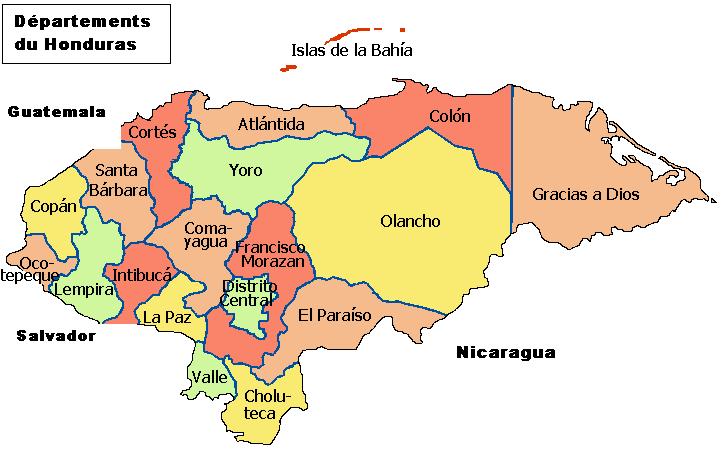 Honduras Map - mapa de Honduras