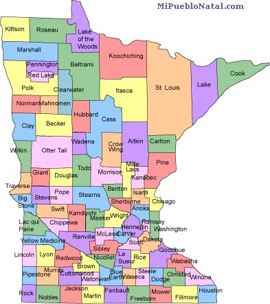 minnesota county map
