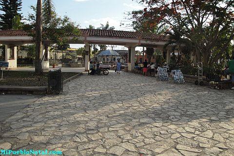 Imagen del Parque Central de Copan Ruinas