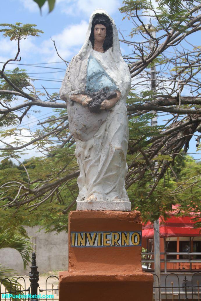 Estatua del invierno en Trujillo, Colon