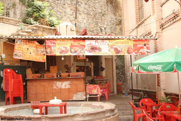 Puesto de comidas en Gunajuato