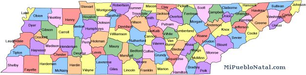 Map Of Tennessee Counties World Map - County map of tennessee