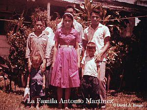La familia Antonio Martinez en 1962