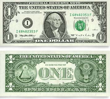 1 Dollar Bill, One Dollar Bill
