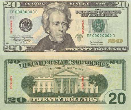 20 Dollar Bill, Twenty Dollar Bill