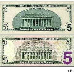 5 Dollar Bill, Five Dollar Bill